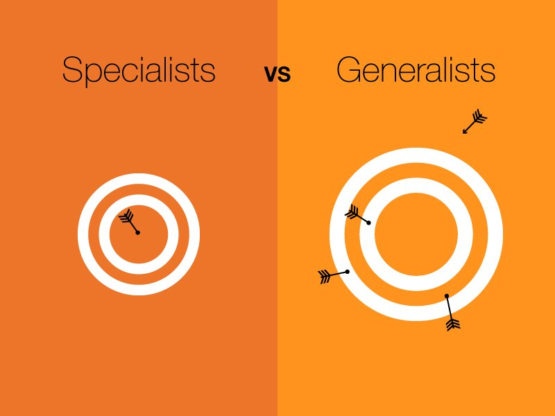 Generalists vs Specialists - What is your career path?